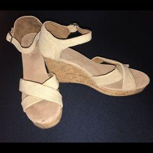 Toms Sienna Platform Wedge Sandals